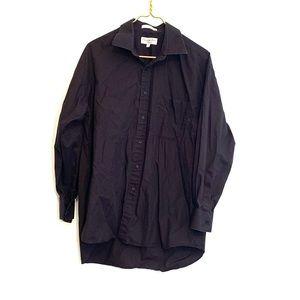 [Christian Dior] Black Dress Shirt - Size Large